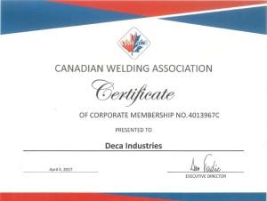 CWA Certificate